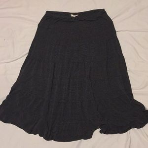 Sophie Max Skirts - Knit gray ruffle layer skirt
